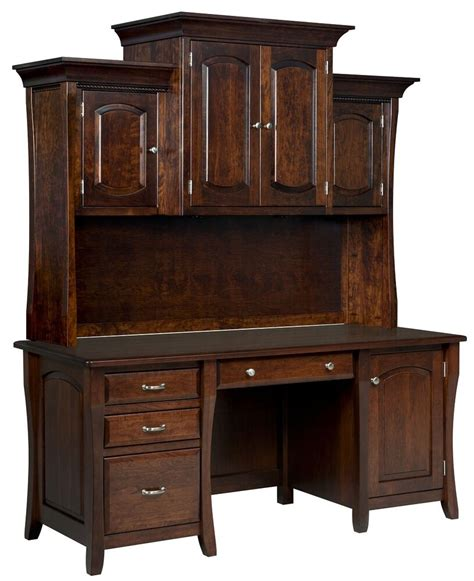 Office Hutch amish computer desk hutch home office solid wood furniture