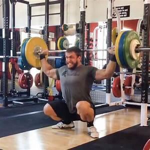 Dmitry Klokov 120kg Btn Snatch Grip Press In Deep Squat Position
