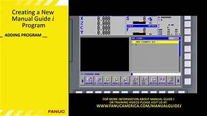 Manual Guide I - Creating A Program