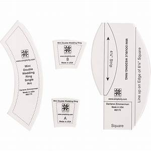 Templates quilt blocks ez quilting mini double for Ez double wedding ring template