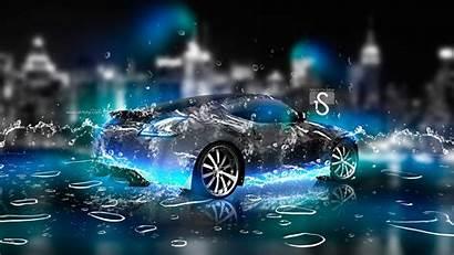 Water Neon Nissan Drops Desktop Backgrounds Wallpapers