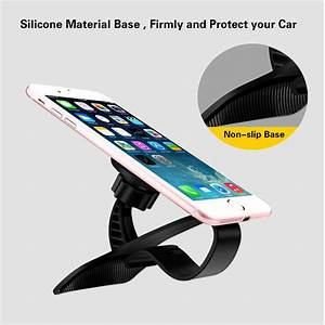 Attache Portable Voiture : support universel r glable de t l phone portable pour voiture support magn tique support de clip ~ Nature-et-papiers.com Idées de Décoration
