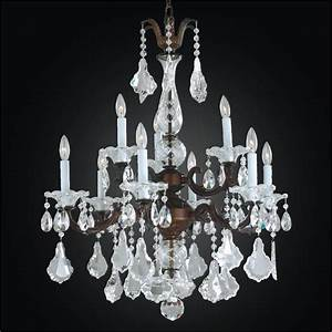 Light chandelier metal and crystal a