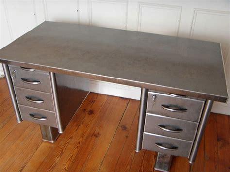 bureau style york bureau industriel roneo style and steel jpg tables