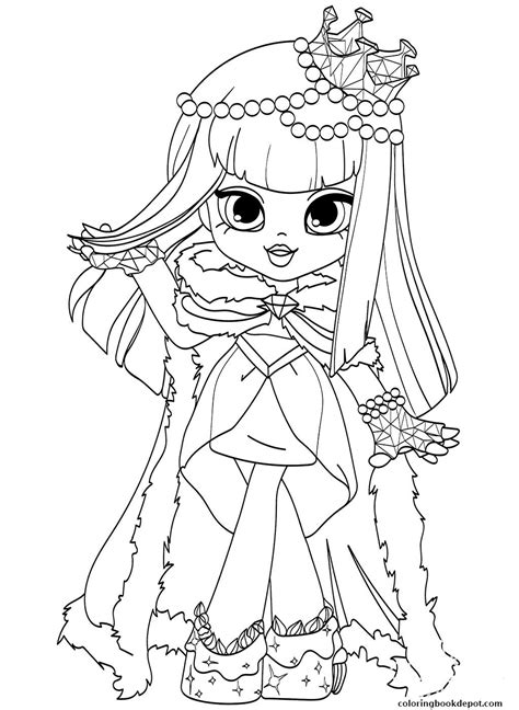 shopkins shoppies dolls coloring page