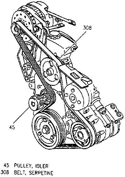 Pontiac 3400 Aztek Engine Diagram by Serpentine Belt Diagram 3 4 V6