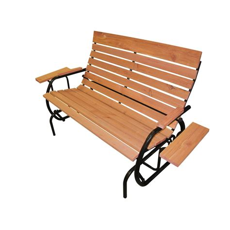 leigh country amberlog patio glider bench tx 94094