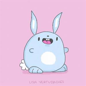 Happy Easter Bunny GIF by Lisa Vertudaches - Find & Share ...