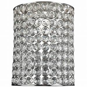 crompton 20cm jewel beaded chrome batten fix light ebay With what kind of paint to use on kitchen cabinets for crystal globe candle holder