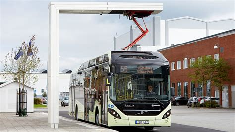 swedish town  vaernamo  electric volvo buses