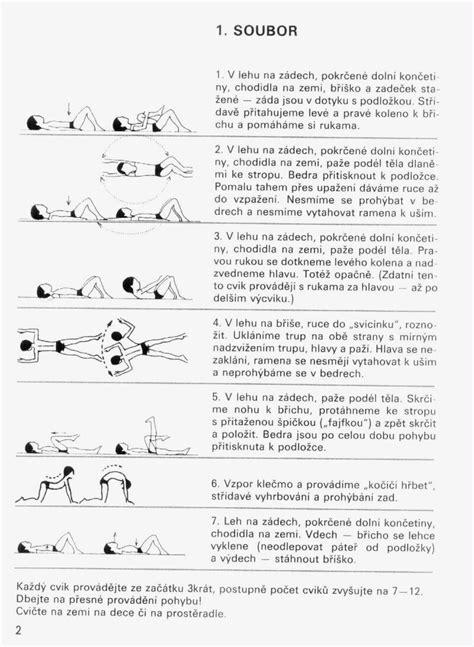 Cvičení na bolesti bederní páteře