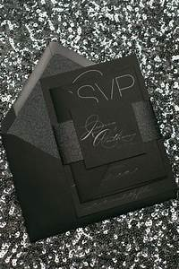 Jessica suite glitter package black on black black gloss for Inexpensive glitter wedding invitations