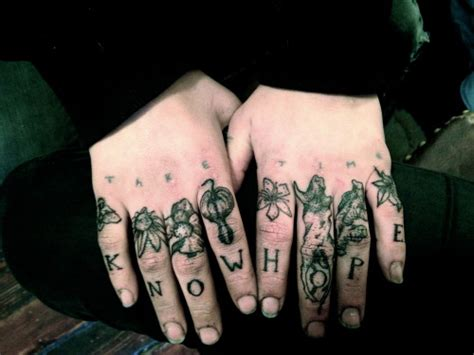 finger tattoos  tumblr