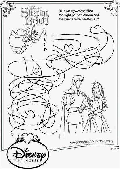Sleeping Beauty Disney Coloring Pages Printable Activities