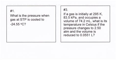 heritage high school chemistry 2010 11 gas laws test