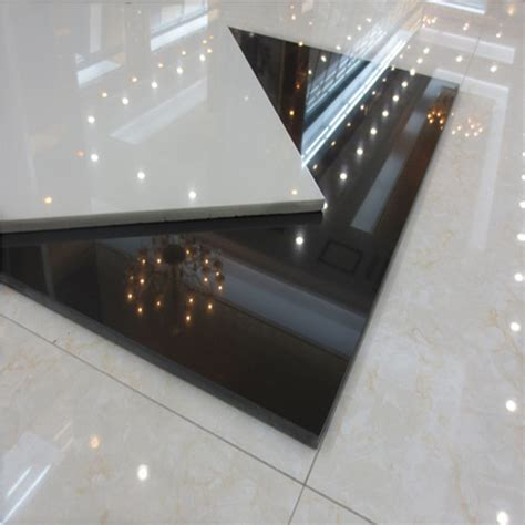 white shiny floor tile glossy white polished