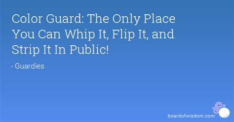 color guard   place   whip  flip