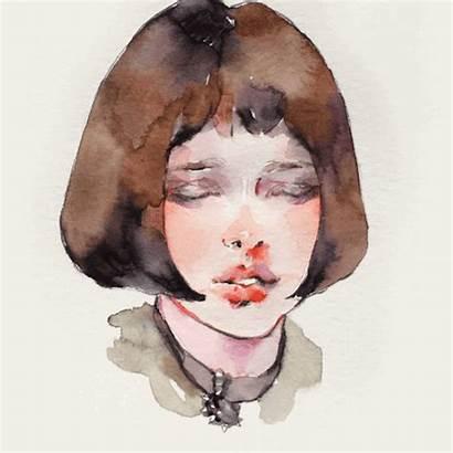 Watercolour Natalie Portman Leon Mathilda Draw Kashmir