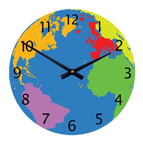 toddler clock geography world map 11 quot children s toddlers wall clock 163 25 99