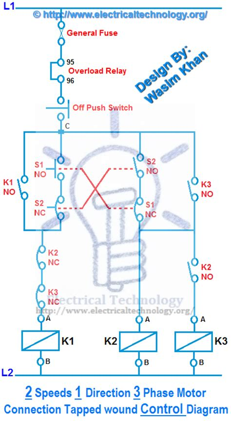 Speeds Direction Phase Motor Power Control Diagrams