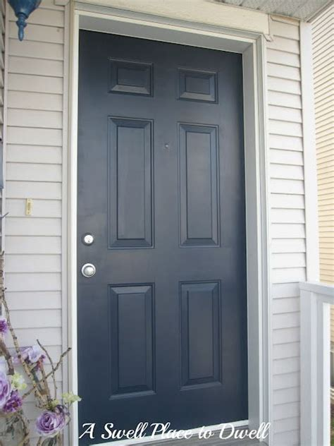 navy blue front door martha stewart s wrought iron using