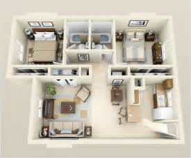 outdoor kitchen floor plans 10 awesome two bedroom apartment 3d floor plans