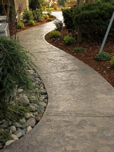 stamped concrete walkway ideas aesthetic addition   property houz buzz