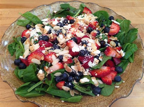 strawberry blueberry feta spinach salad simply