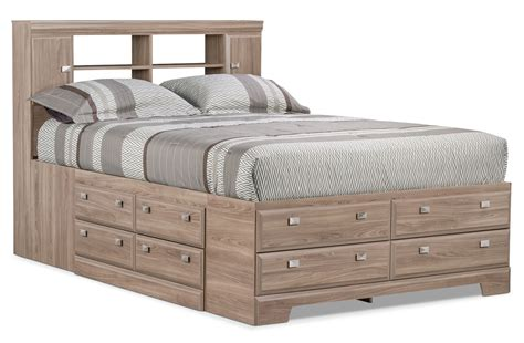 Yorkdale Light Queen Bookcase Storage Bed