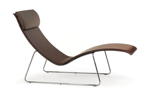 chaises métal relax midj chaise longue made of metal and hide cushion