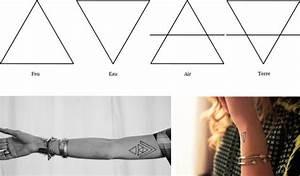 Tatouage 4 éléments : quelle est la signification du tatouage de triangle ~ Nature-et-papiers.com Idées de Décoration