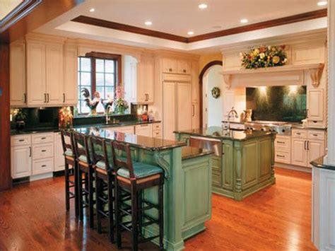 Kitchen  Green Kitchen Island With Breakfast Bar Kitchen