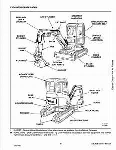 Bobcat 425  428 Compact Excavator Service Repair Workshop