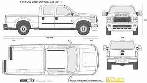 the blueprintscom vector drawing ford f 250 super With 1960 ford crew cab