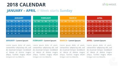 powerpoint calendar template 2018 2018 calendar powerpoint templates