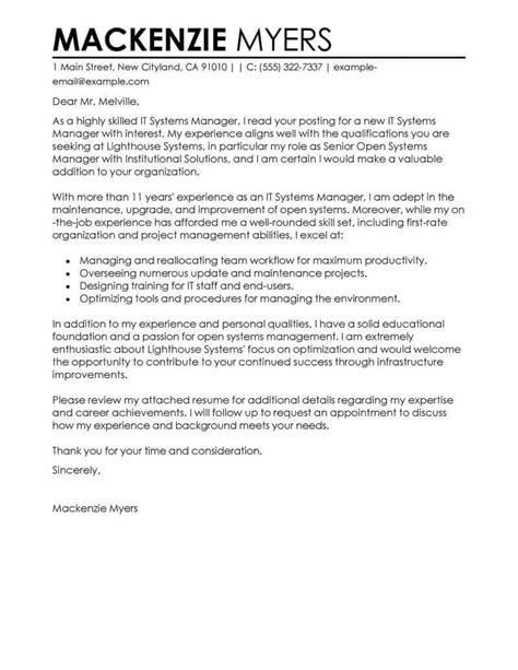 presentation cover letter best it cover letter exles livecareer