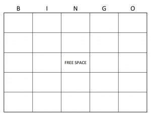 bingo card template word excel formats