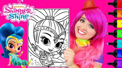 Coloring Kimmi by Coloring Shine Shimmer And Shine Sparkle Coloring Page