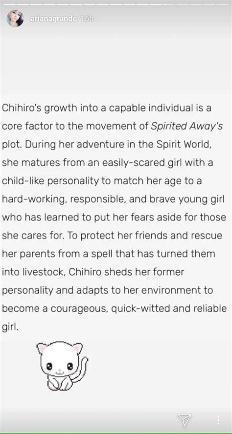 Ariana Grade Got a New Tattoo of Chihiro Ogino from