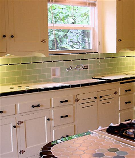 vintage kitchen tile backsplash interior design green subway tile backsplash