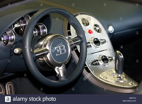 The veyron super sport has 1200 horsepower and goes 258 mph. (dpa) - The interior of the new Bugatti EB Veyron 16.4 pictured in Stock Photo, Royalty Free ...