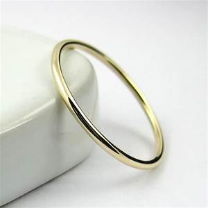 thin gold ring thin wedding band gold stacking ring With thin band wedding rings
