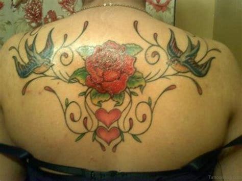 89 Superb Flowers Tattoos On Back