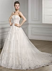 a line princess sweetheart court train tulle lace wedding With a line tulle wedding dress