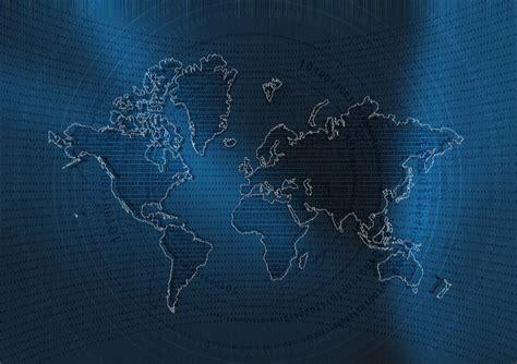 illustration abstract geometric world map