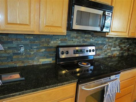 beautiful slate kitchen backsplashes pictures  hand