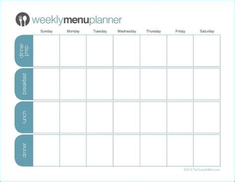 Menu Planner Template by 21 Free Menu Planner Template Word Excel Formats