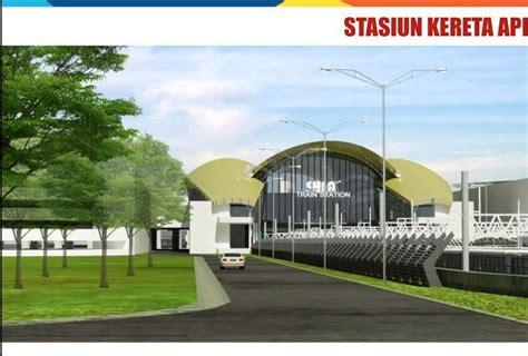 not naik kereta api ini penakan stasiun kereta dan integrated building bandara soetta