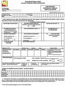 how to fill pnb current account opening form download With documents required to open a bank current account