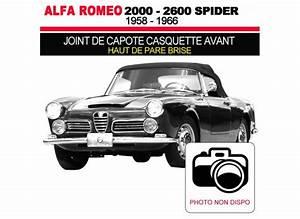 Casquette Alfa Romeo : joint de capote casquette avant pour les cabriolets alfa romeo 2000 2600 spider ~ Nature-et-papiers.com Idées de Décoration